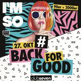 Plakat: I'm so #Back for Good (Foto: Pressefoto/Veranstalter)