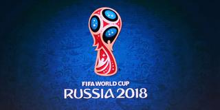 Logo der Fußball-WM: FIFA World Cup Russia 2018 (Foto: picture alliance / Christian Charisius/dpa)